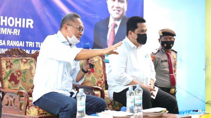 Dengarkan Keluhan Nelayan Lampung, Zulhas dan Erick Thohir Beri Solusi