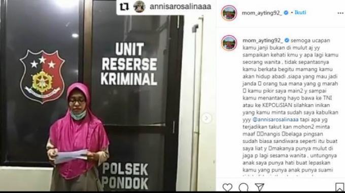 Umi Kalsum Murka Ayu Ting Ting Dihina Netizen hingga Lapor ke Kepolisian