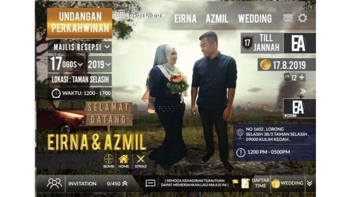 Pasangan Malaysia membuat undangan dengan tema game PUBG