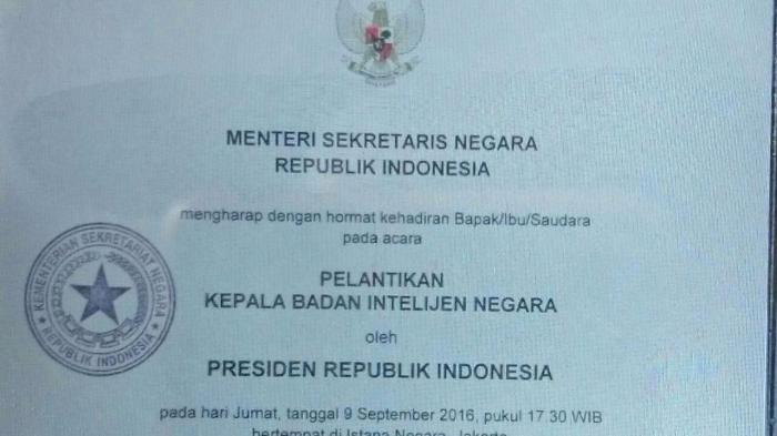 Pimpinan DPR Sudah Terima Undangan Pelantikan Budi Gunawan
