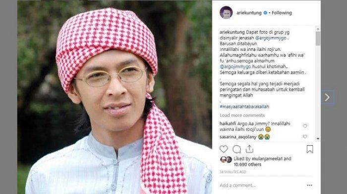 Arie Untung Kabarkan Aa Jimmy Meninggal Dunia Jadi Korban Tsunami Banten