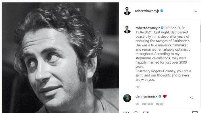 Unggahan IG Robert Downey Jr