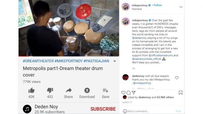 Unggahan mantan drummer Dream Theater, Mike Portnoy