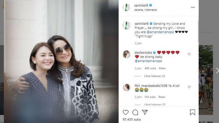 Amanda Manopo Berduka, Pemain Ikatan Cinta Evan Sanders dan Sari Nila Beri Dukungan