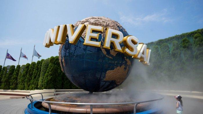 Akibat topan Jebi yang membahayakan, Universal Studio Japan di Osaka, Jepang ditutup, Selasa (4/9/2018).