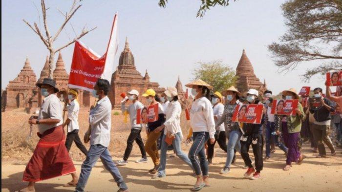 ASEAN  Belum Siapkan Rencana Aksi untuk Myanmar, Massa Demo Kedubes RI di Yangon
