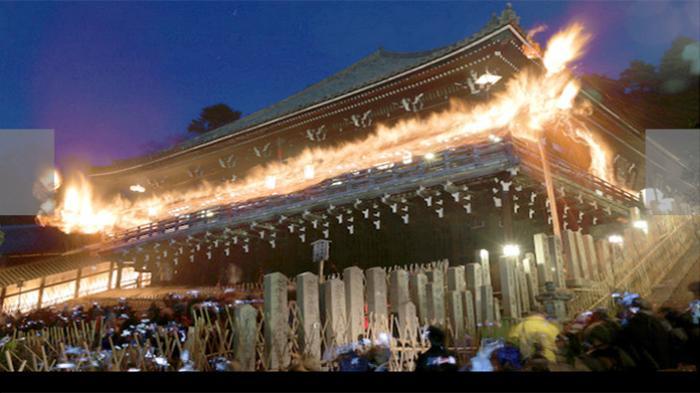 Upacara Pembakaran Kayu Sepanjang 6 Meter Tanda Dimulainya Musim Semi di Jepang