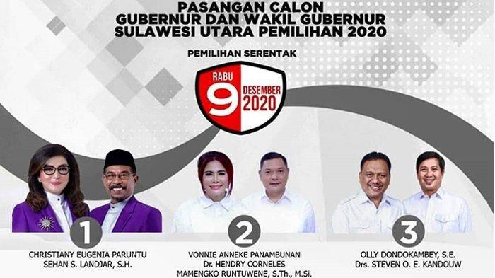 Foto para calon Gubernur dan Wakil Gubernur Sulawesi Utara