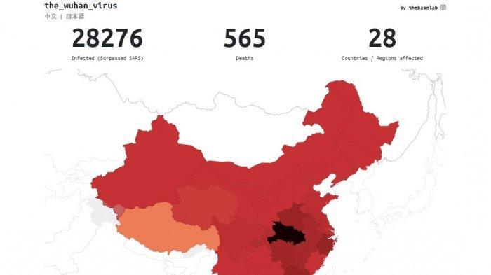 UPDATE Pasien Virus Corona hingga Kamis, 6 Februari 2020: 565 Orang Meninggal Dunia, 1174 Sembuh