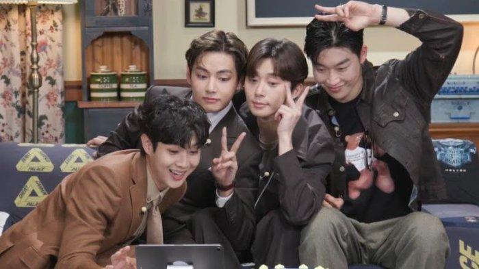 Wooga Squad selfie bersama selama fanmeeting online Choi Woo Shik.