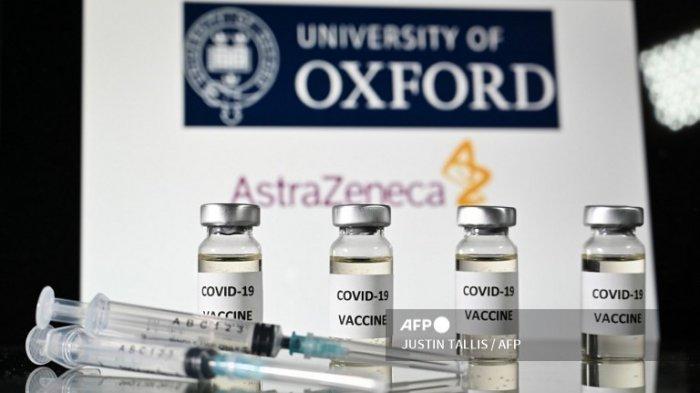 Ilustrasi vaksin Covid-19 dari Universitas Oxford dan AstraZeneca, diambil pada 17 November 2020.