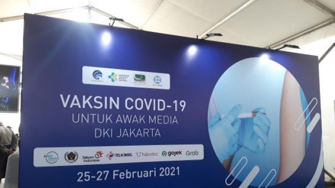 Situasi Hari Terakhir Vaksinasi untuk Awak Media di GBK Senayan