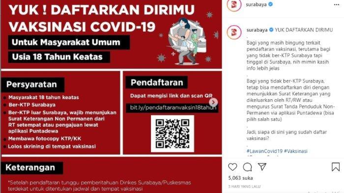 Cara Daftar, Syarat, dan Lokasi Vaksinasi Covid-19 di Surabaya