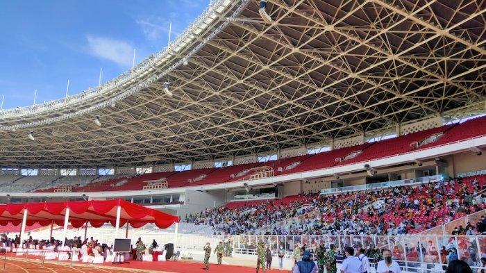 Vaksinasi massal digelar di Stadion Gelora Bung Karno (GBK), Senayan, Jakarta, Sabtu (26/6/2021).