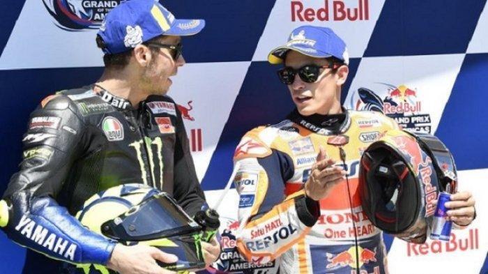 Perbedaan Mencolok dari Tindakan Rossi dan Marquez Saat Dianggap Juara Karena Faktor Motor