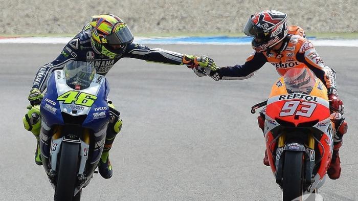 Sama-sama Melempem, Marc Marquez dan Valentino Rossi Satu Frekuensi Kehancuran