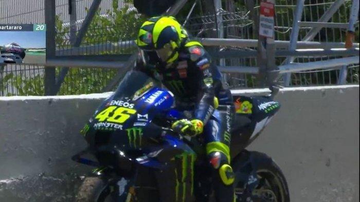 Valentino Rossi mengalami masalah teknis di GP Spanyol 2020.