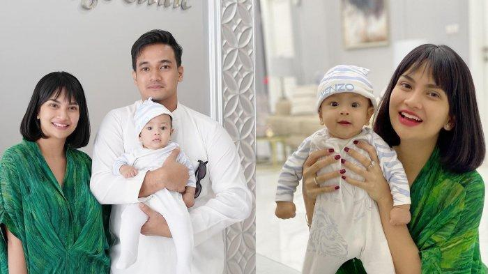 Vanessa Angel dan Bibi Ardiansyah bersama putra mereka, Gala Sky Andriansyah.