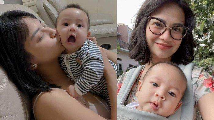 Vanessa Angel dan putranya, Gala Sky.