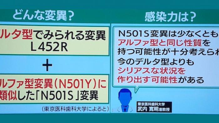 Varian N501S yang Baru Masuk Jepang Tidak Kalah Bahaya Dengan Varian Delta