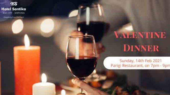 Rayakan Imlek dan Valentine, Dinner di Hotel Santika BSD Teraskota Berstandar Protokol Kesehatan