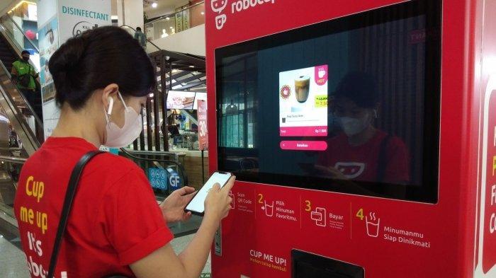 Startup Robocup Pamer Vending Machine Barista Pertama di Indonesia
