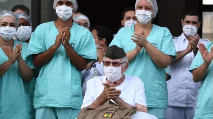 Seorang veteran Perang Dunia II di Brasil berusia 99 tahun berhasil sembuh dari virus corona.