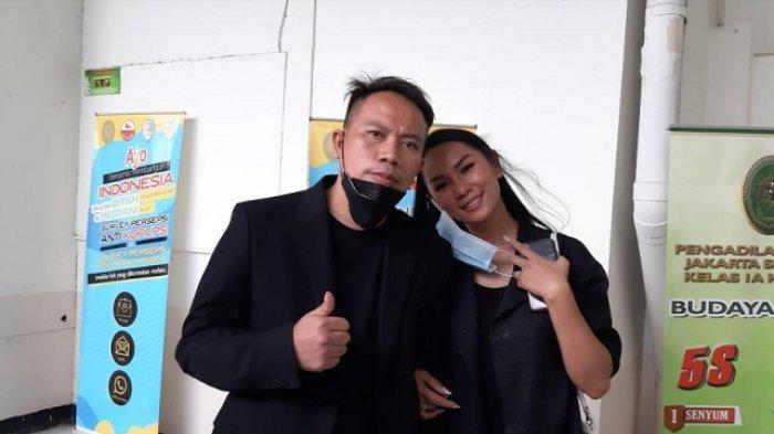 Vicky Prasetyo dan Kalina Oktarani di PN Jakarta Selatan, Kamis (4/2/2021).