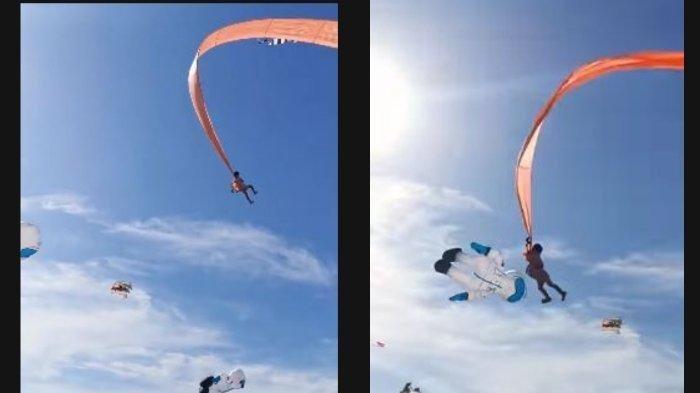 Video Viral Gadis 3 Tahun Tersangkut Layang-layang hingga Dibawa Terbang, Pengunjung Histeris