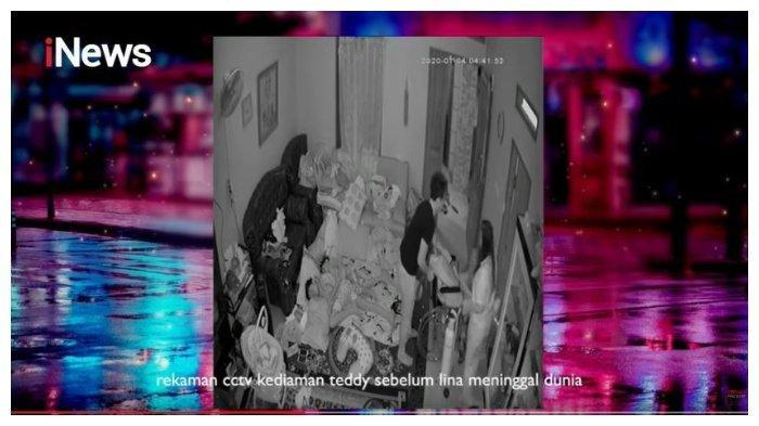 Rekaman CCTV mendiang Lina Jubaedah yang sedang ditolong (Capture YouTube Hotman Paris Show)