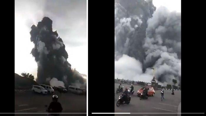 Video detik-detik Gunung Tangkuban Parahu erupsi pada Jumat (26/7/2019). Perekam video menuai pujian karena mengimbau orang-orang tidak panik.