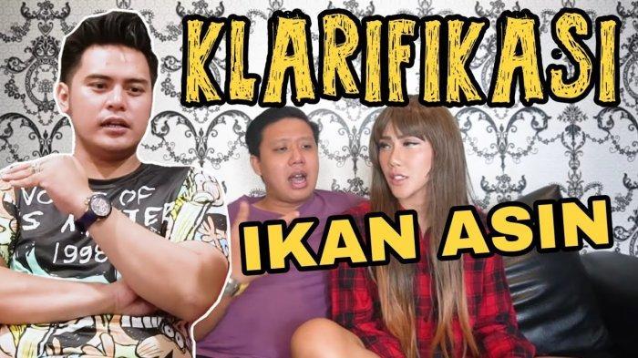 Video klarifikasi ikan asin yang dibuat Rey Utami dan Pablo Benua menjelaskan tentang video ucapan Galih Ginanjar sebelumnya yang dianggap menyinggung manan istriya Fairuz A Rafiq.
