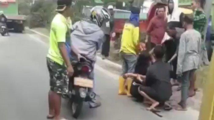 Video tentang korban penembakan di simpang empat Macan Lindungan Palembang beredar di media sosial.