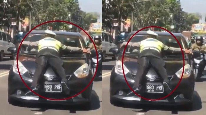 Viral Video Polantas Ditabrak Pengendara Mobil, Ini Kata Kasatlantas Polrestabes Bandung