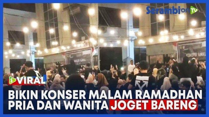 Viral Video Kerumunan Pria dan Wanita Joget Bareng, Ternyata Konser Amal, Terancam Penjara 1 Tahun