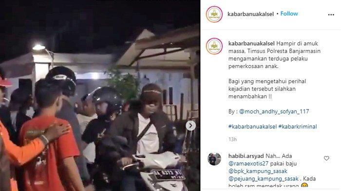 VIDEO Pria Nyaris Dihakimi Massa, Diduga Tega Nodai Putrinya Sendiri, Polisi Beri Penjelasan