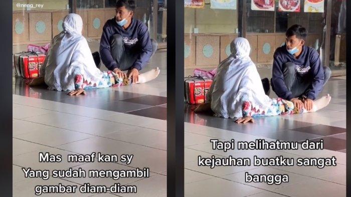 Video seorang anak yang memijati kaki ibu di tengah lalu lalang orang viral di TikTok. Berikut tanggapan dari pengunggah video.