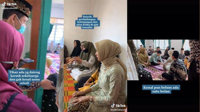 Video TikTok yang menceritakan kisah wanita yang langsung dilamar calonnya