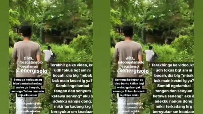 VIRAL Anak Kecil dan Keluarga Tinggal di Sebuah Kebun di Solo, Kondisi Memprihatinkan dengan 1 Lampu