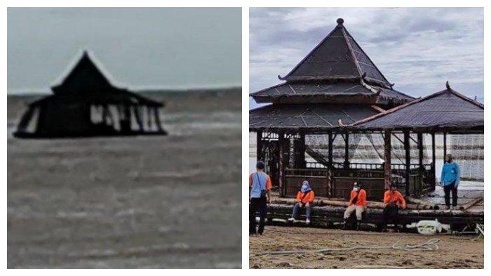 VIDEO Viral Masjid Apung Terombang-ambing Berjam-jam di Laut dan Masih Utuh saat Ditarik ke Pantai