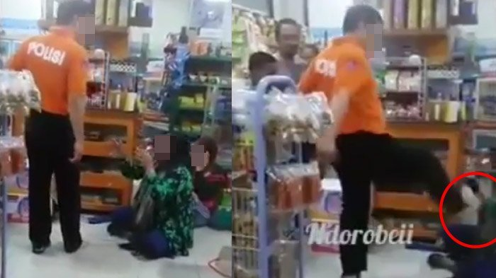 Viral Video Pria Berbaju Tulisan 'Polisi' Aniaya Wanita dan Anak, Kini Sosok dan Nasibnya Terungkap