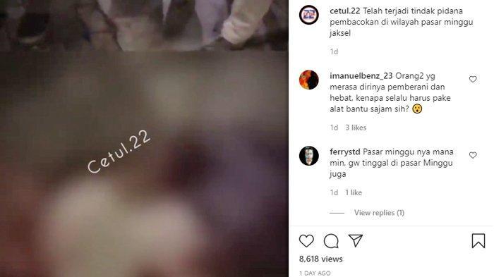 VIDEO Viral Pria di Pasar Minggu Dibacok saat Makan Pecel Lele, Ini Kronologinya