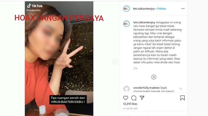 Video tutorial yang viral di media sosial (Tangkap layar Instagram.com/lets.talkandenjoy)