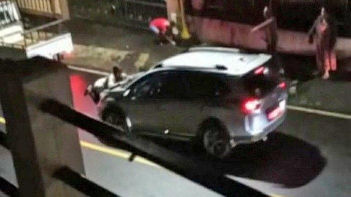 Video Wanita Bergelantungan Kap Mobil dan Sempat Terseret, Pemilik Diduga Wakil Ketua DPRD Sulut