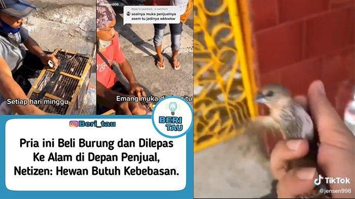 Viral Aksi Beli Burung dan Dilepas di Depan Penjual Timbul Perdebatan, Pemilik Video Beri Penjelasan