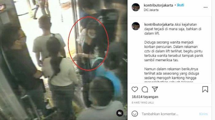 Viral Aksi Komplotan Copet di Lift, Gondol HP Rp 18 Juta, Pelaku Diciduk, Modus Ajak Ngobrol Korban