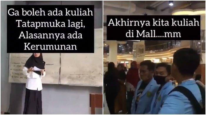 Viral Aksi Mahasiswa Kuliah di Mall: Sindir Pemerintah karena Mall Dibuka, tapi Sekolah Ditutup