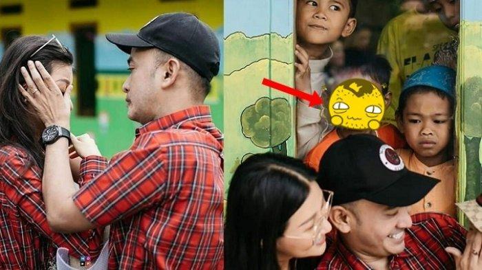 Momen Haru Ruben Onsu & Sarwendah Rusak, Penampakan Anak Kecil Ngintip di Jendela Ini Viral