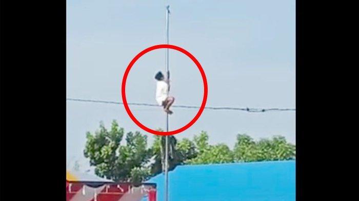 Viral Anak Panjat Tiang Bendera Saat Upacara Hari Santri di Gorontalo, Masih Pakai Peci & Sarung