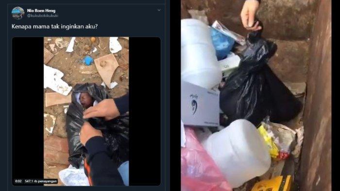 VIRAL Video Bayi Ditemukan di Tempat Sampah, Terbungkus Kantong Plastik, Psikolog Beri Tanggapan